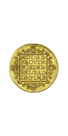 Picture of a Dutch ducat (verso)